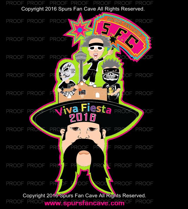 Spurs Fan Cave 2016 Fiesta Medal & T-Shirts.