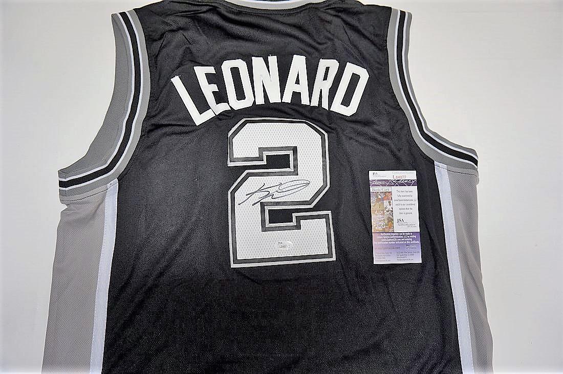 certified Kawhi Leonard autographed jersey