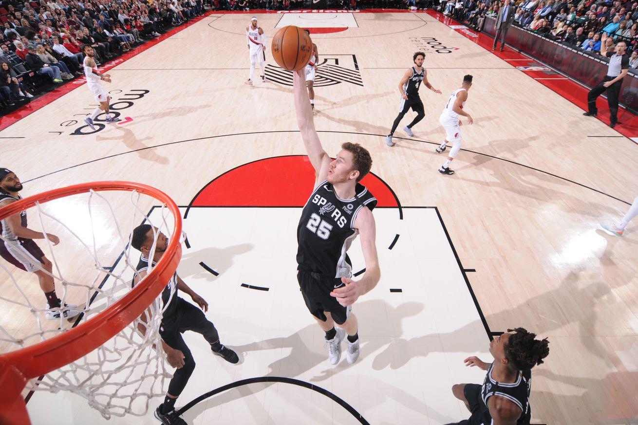 San Antonio Spurs v Portland Trail Blazers