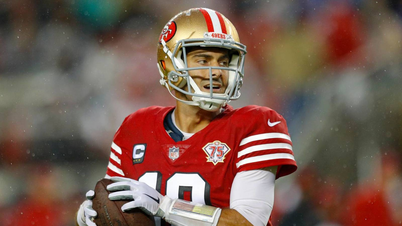 """Featured image for """"Report: 49ers turned down Pats' offer of second-round pick for Jimmy Garoppolo"""""""
